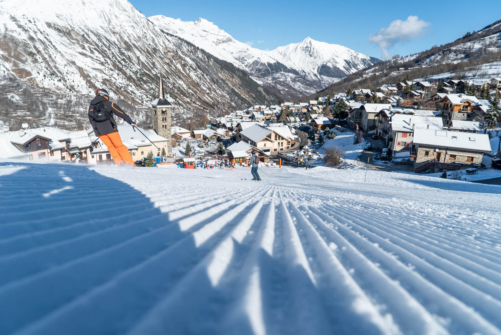 Le village de Saint-Martin-de-Belleville : pistes de ski