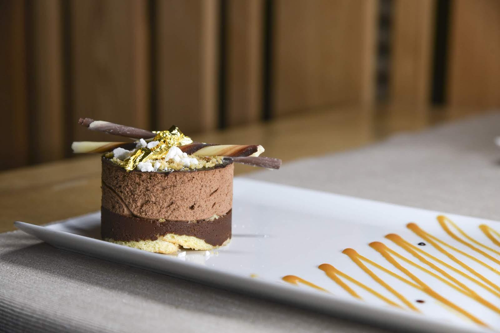 Dessert chocolat au restaurant le Montagnard