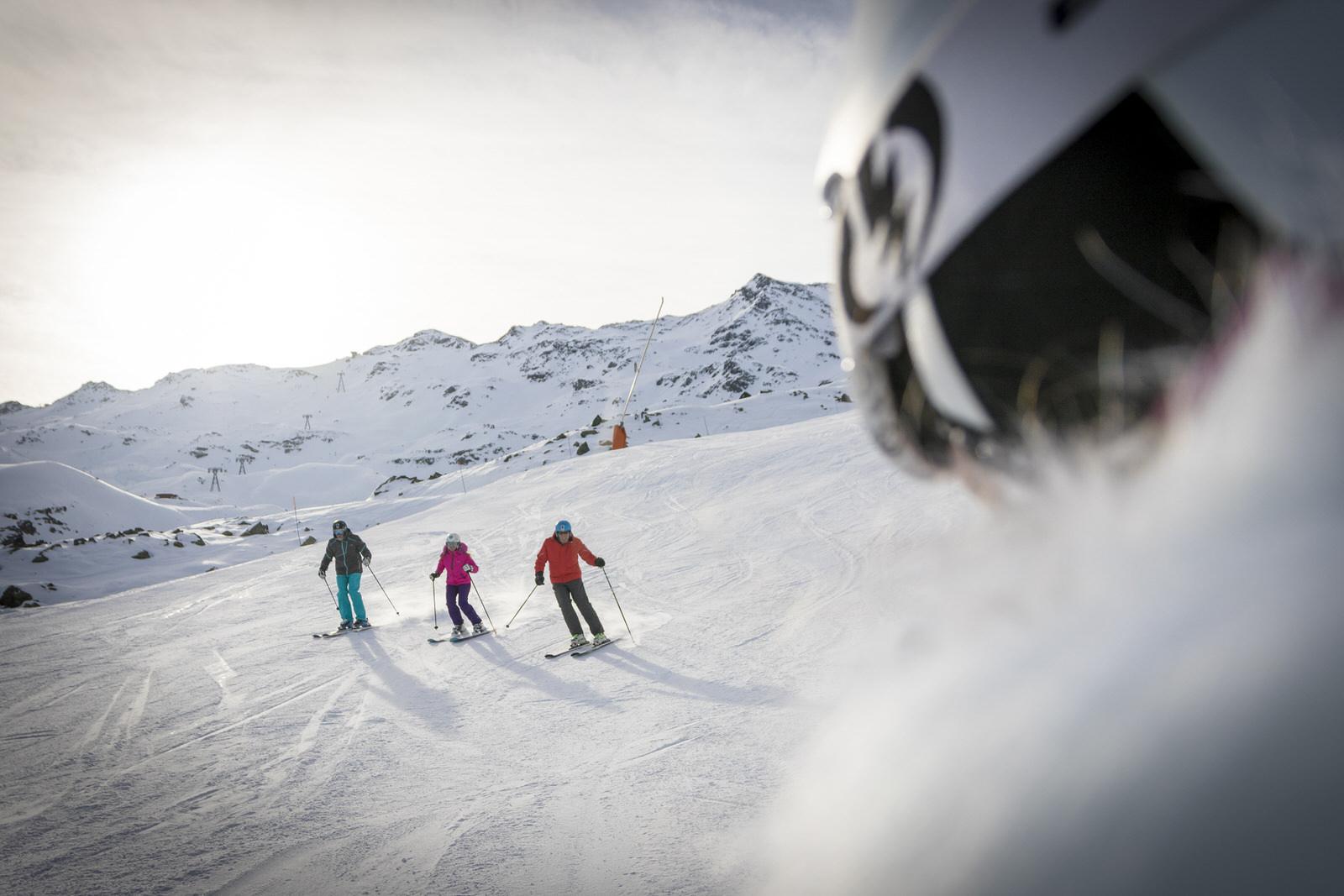 Ski alpin sur piste - Les 3 Vallées