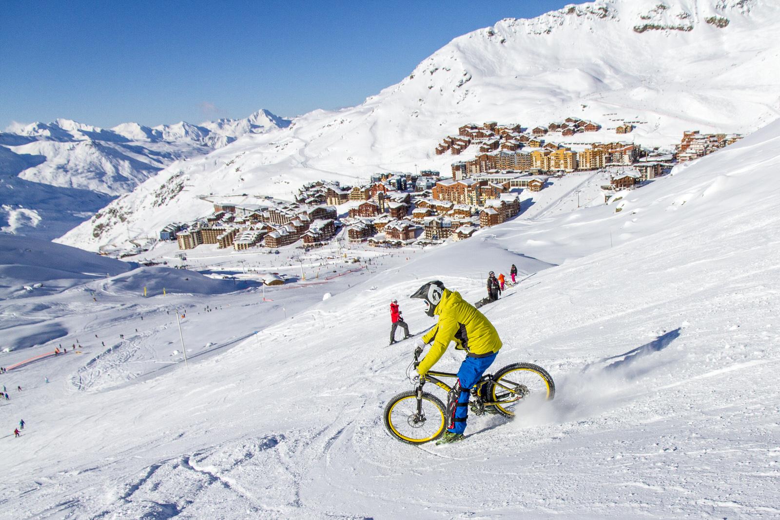 Fat bike et VTT sur neige - Les 3 Vallées