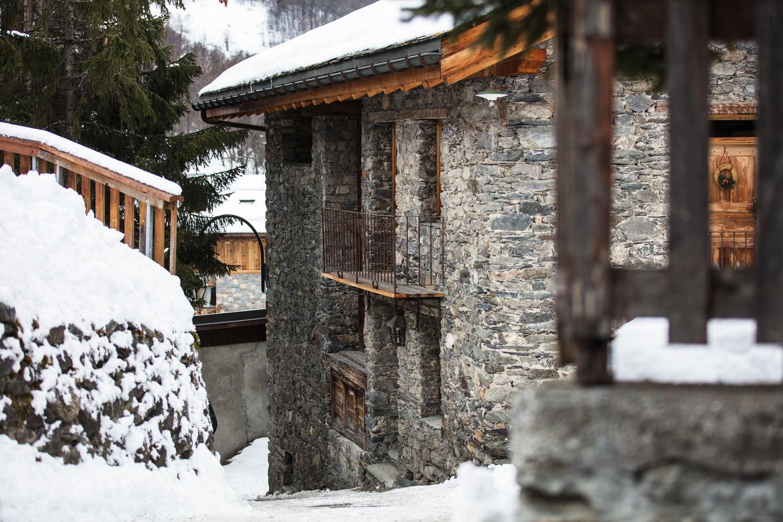 Le village de Saint-Martin-de-Belleville : maison en pierre